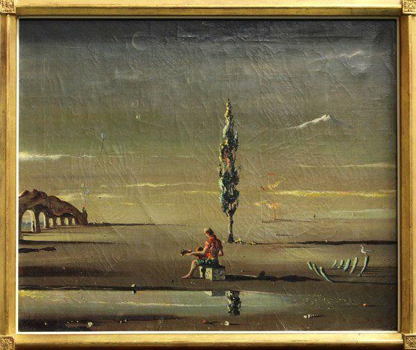 4277: Painting, Surreal Landscape signed Igor