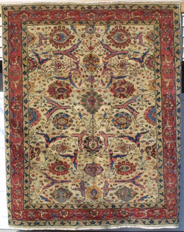 21: Fine Bijar carpet with an Afshan design