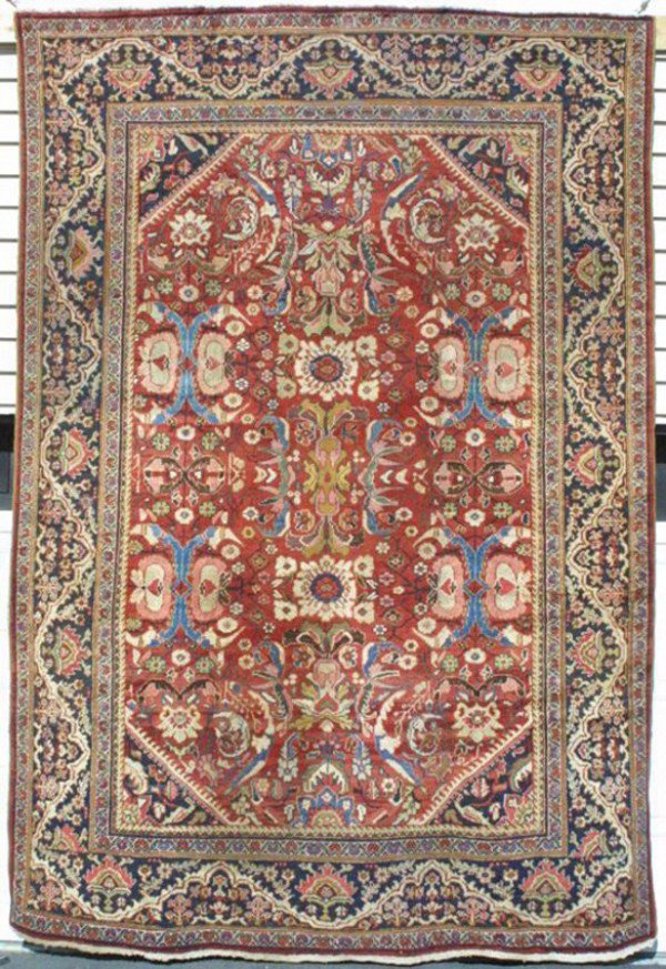 23: Antique Sultanabad Mahal Carpet