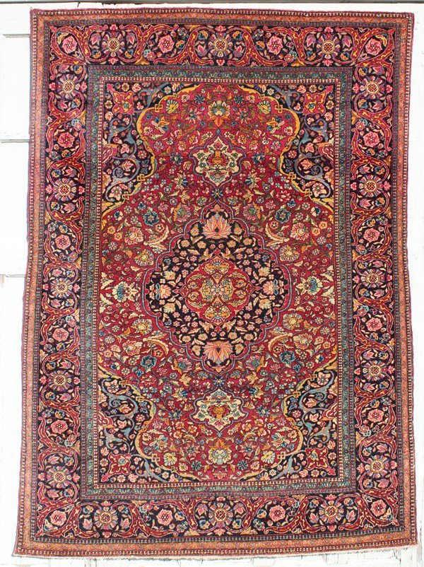 187: Antique Isfahan carpet
