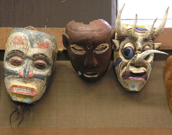 4: Wood face masks, Mexico