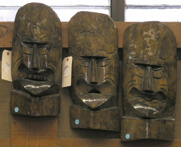 5: South Pacific wood masks