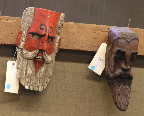 7: Latin American carved masks