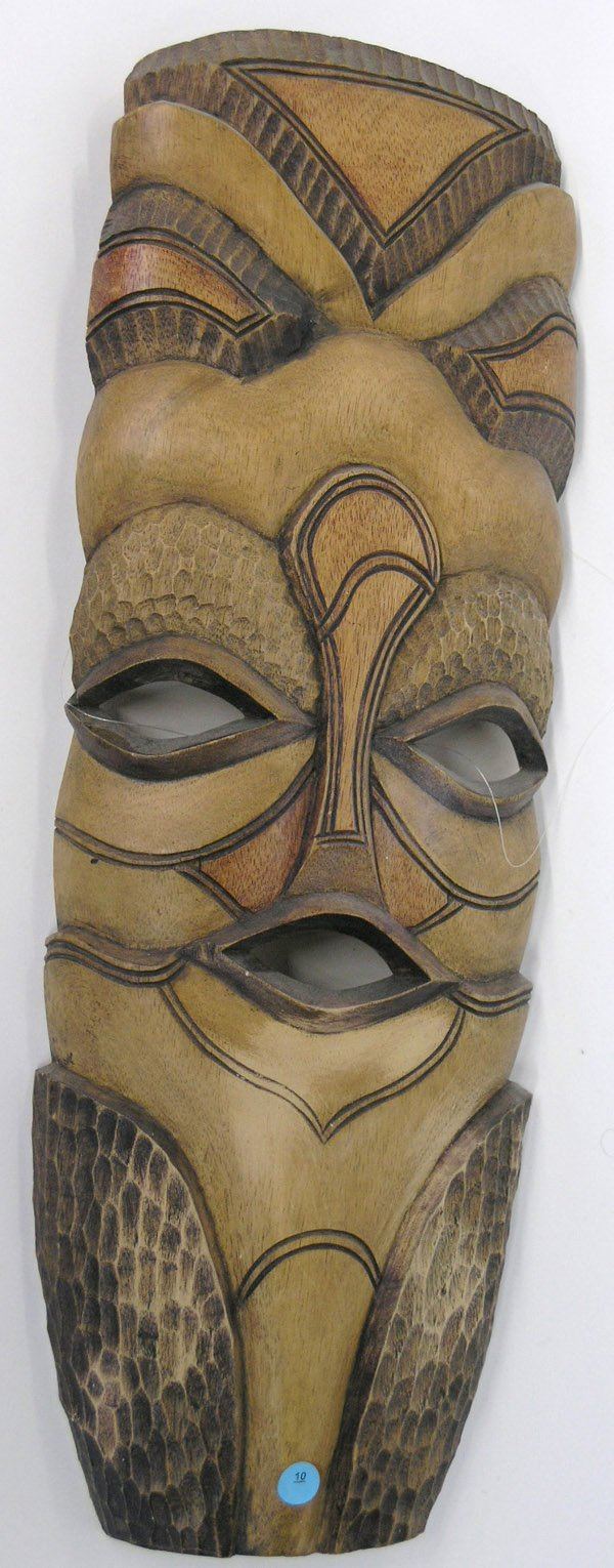 10: South Pacific wood masks