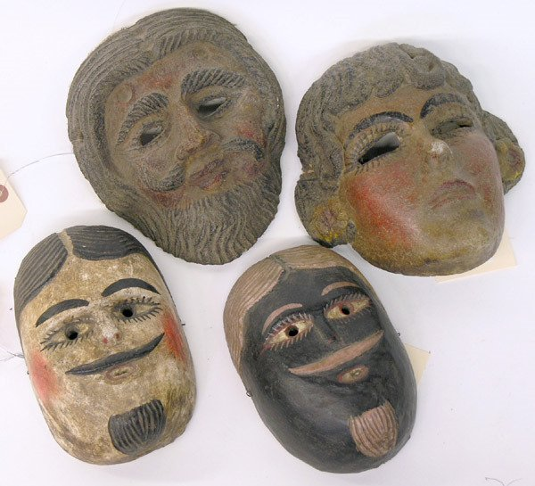 11: Mexican wood masks