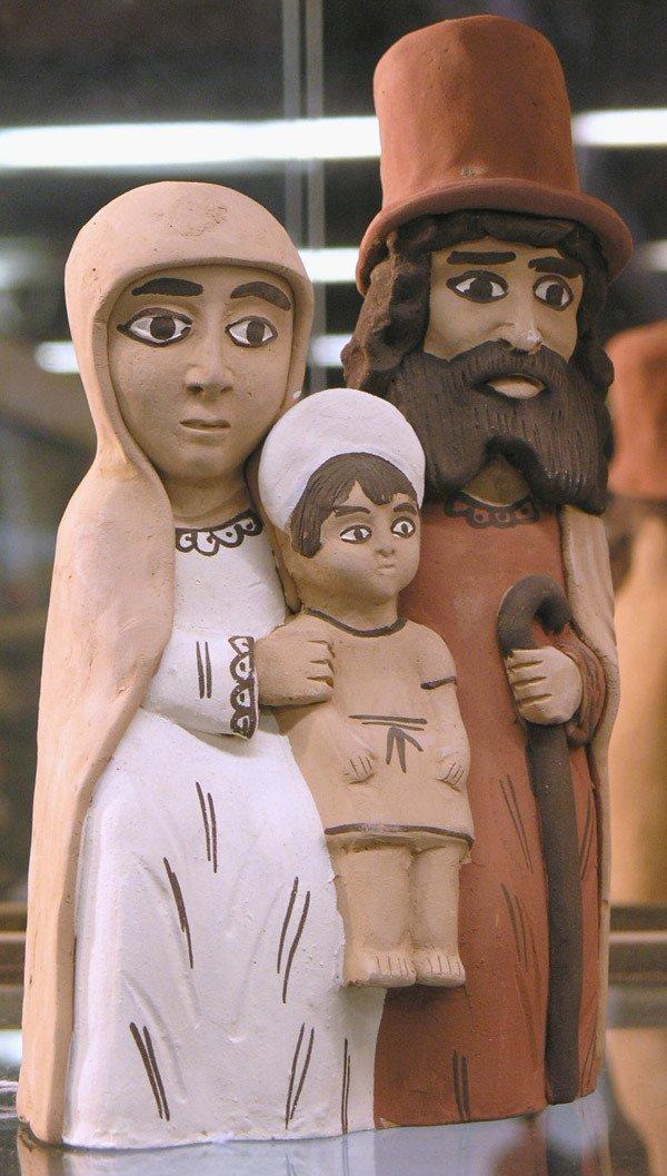 17: Peruvian terracotta, Holy Family