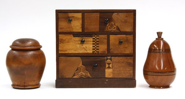 2001: Wood turned box group