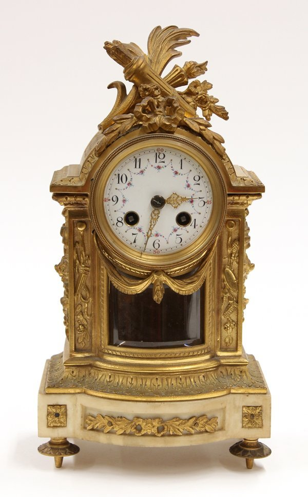 2013: French Gilt Bronze Mantle Clock