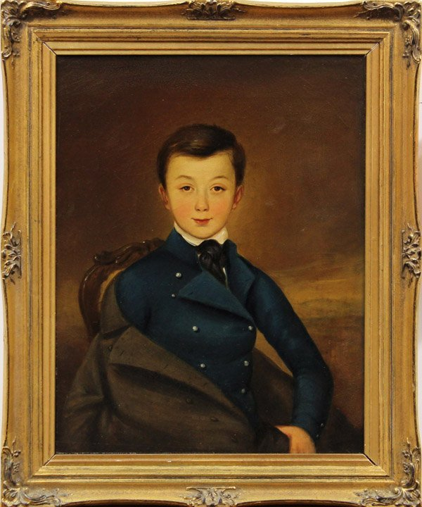2176: Painting, Continental School (19th C.), Portrait