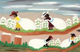 2191 Painting Clementine Hunter Southern Cotton Pick