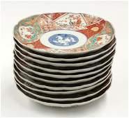 3048: Ten Japanese Imari Porcelain Plates