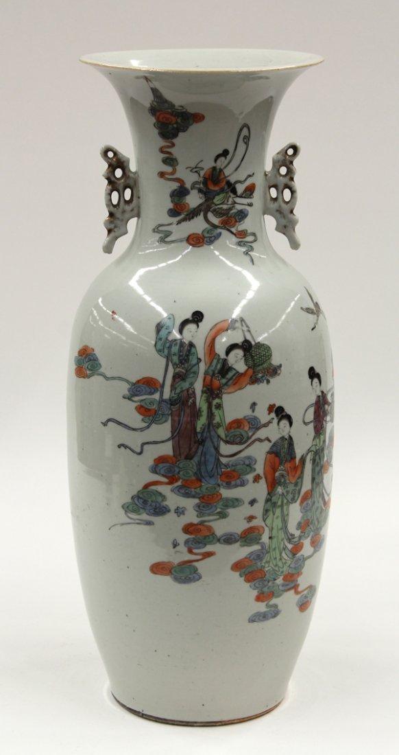 3087: Chinese Enameled Large Porcelain Vase, Celestials