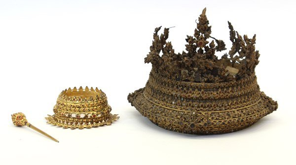 2: Thai Gilt Wood Headdresses, Bangkok
