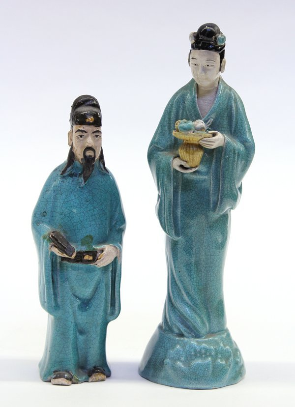 9: Two Chinese Ceramic Figures
