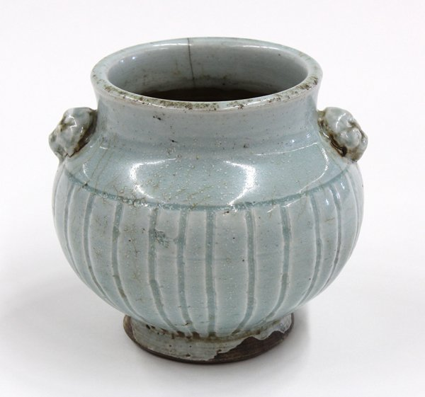 23: Chinese Qingbai Glazed Lobed Jar