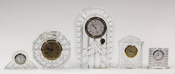6003: Crystal desk clock group