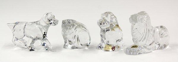 6005: Crystal animal figural group