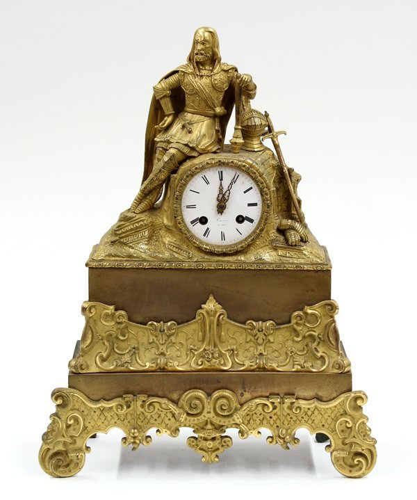 6015: French gilt bronze mantle clock