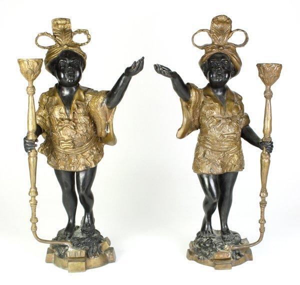6017: Continental bronze blackamoors