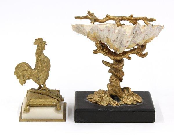 6022: Continental gilt bronze group