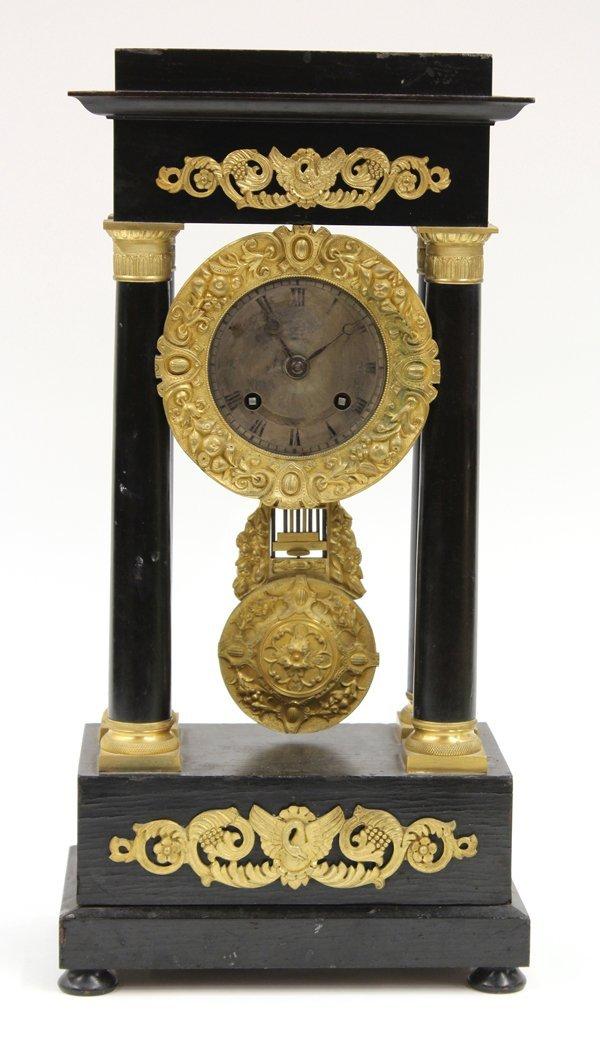 6024: Napoleon III portico clock