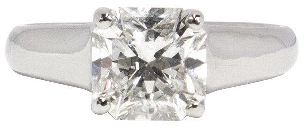 6379: Tiffany solitaire diamond platinum ring