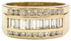 6451: Gentleman's yellow gold diamond ring
