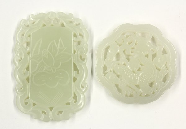 4004: Two Chinese Jade Plaques