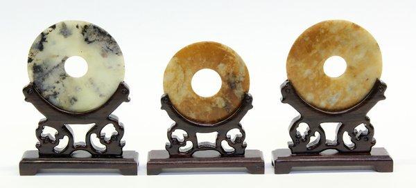 4009: Three Chinese Hardstone Bi-disks