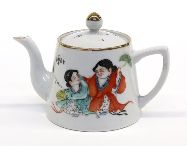 4011: Chinese Porcelain Teapot, Hehe Erxian