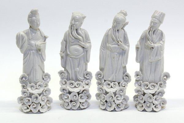 4018: Chinese Blanc de Chine Daoist Immortals