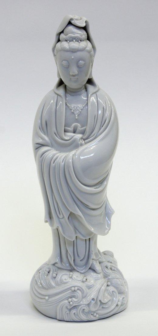 4019: Chinese Blanc de Chine Porcelain Guanyin