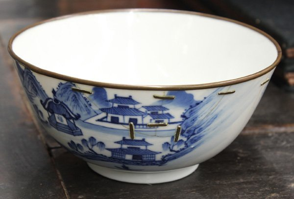 4023: Chinese Blue-and-White Porcelain Bowl