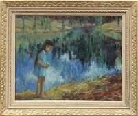4129: Painting, Louise Noack Gray, California Edge of B