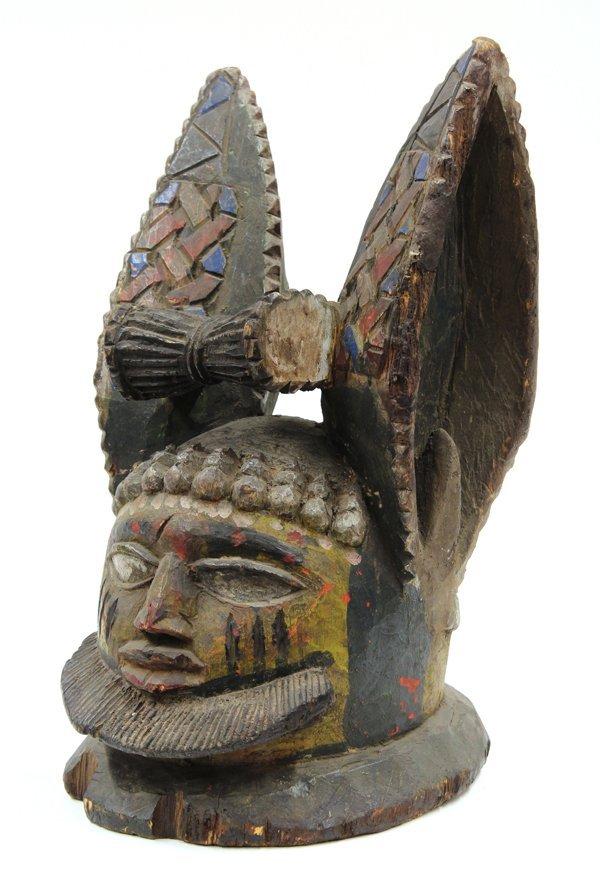 2021: Rabbit mask, Yoruba, Nigeria