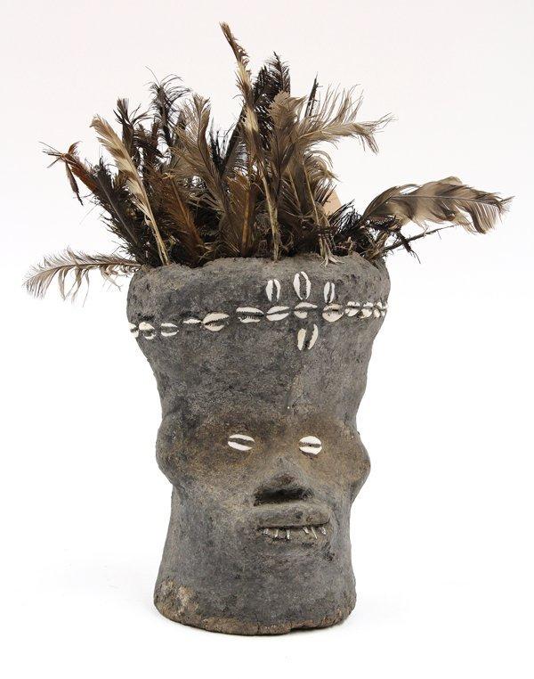 2023: Clay Fetish Head, Kran, Dan Complex, Liberia
