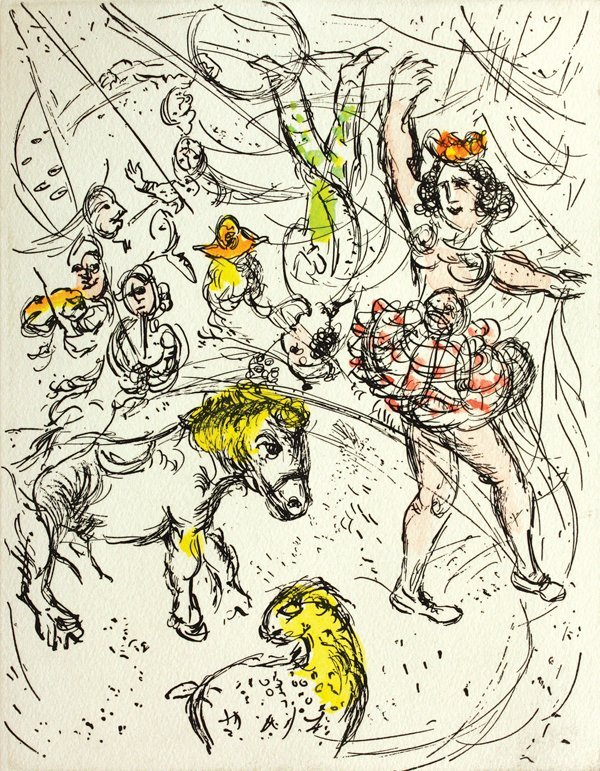 2221: Etching, Marc Chagall, Le Poney