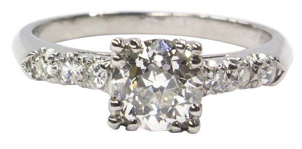 2453: Old European brilliant cut GIA diamond ring