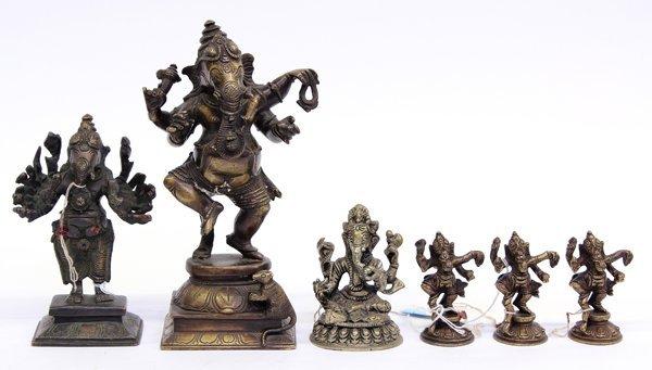 1: East Indian Bronze Ganesh