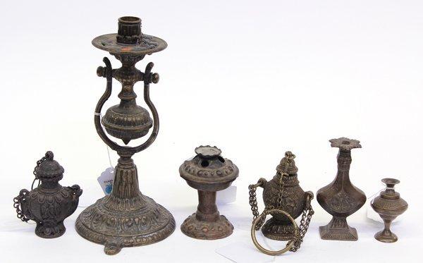 4: East Indian Metal Lamps