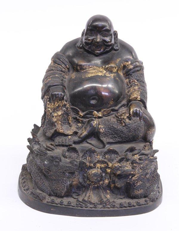 5: Asian Bronze Seated Hotei