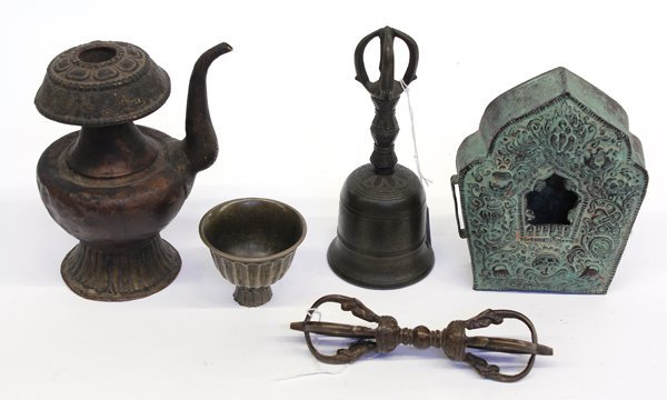9: Group of Himalayan Religious Items