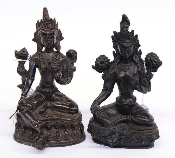 10: Nepalese Two Tara Figures
