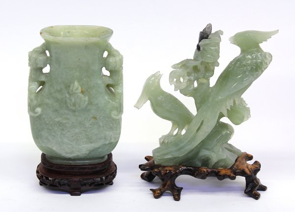 15: Two Chinese Hardstone Carvings