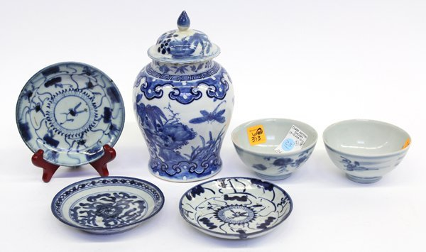 23: Group of Asian/Chinese Blue-and-White Porcelains