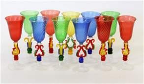623: Venetian art glass stems