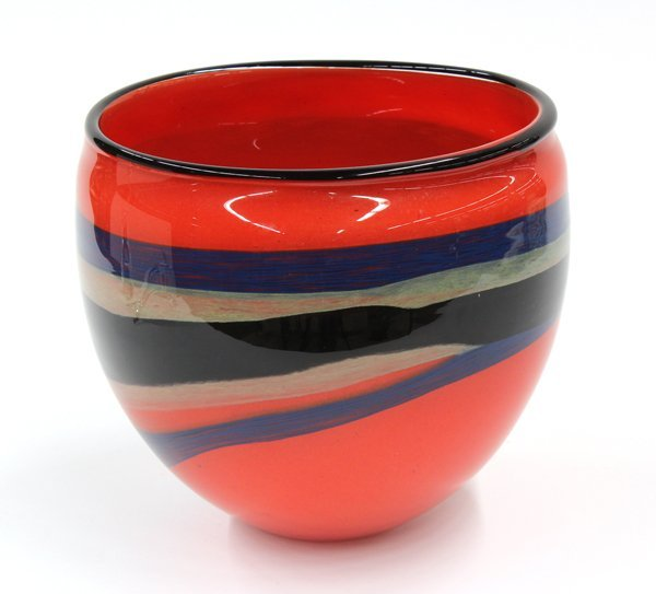 6008: Art glass studio vase