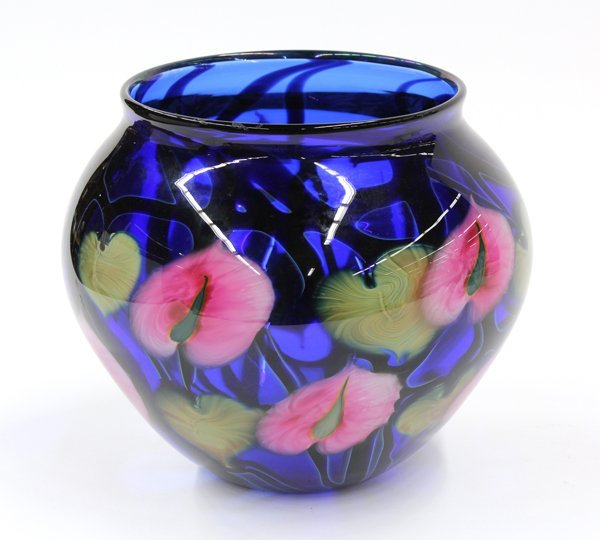 6011: Daniel Lotton art glass vase