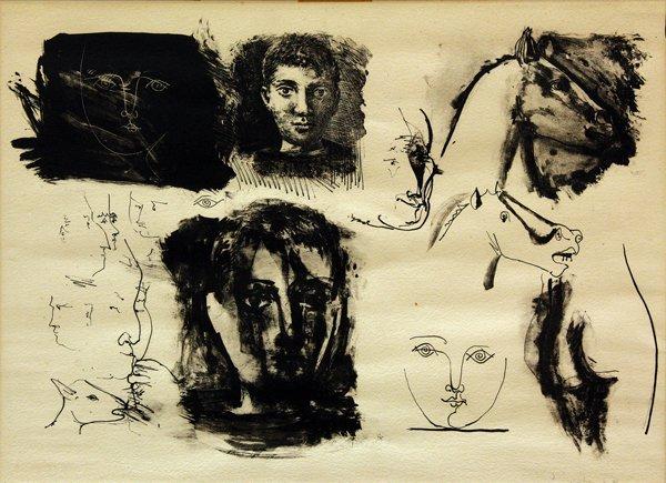 6224: Lithograph, Pablo Picasso, Studies