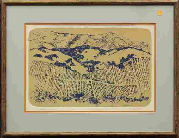 6232: Lithograph, Dorr Bothwell, Vineyard